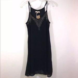 ya Los Angeles Beaded Silk Boho Large Dress